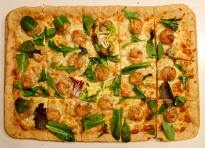 crispy shrimp pizza | The Baking Fairy