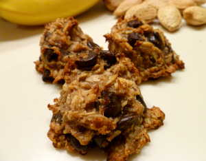 healthy chunky monkey cookies | The Baking Fairy