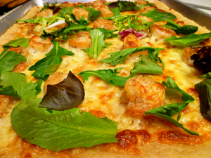 crispy shrimp pizza | The Baking Fairy