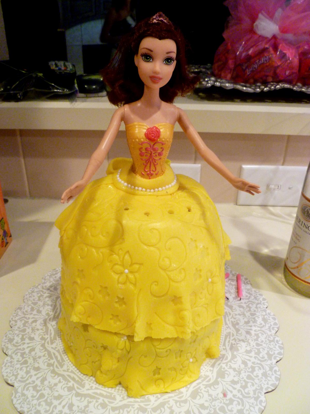Belle Doll Cake The Baking Fairy