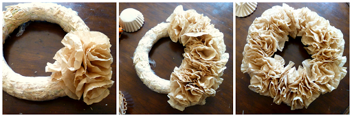 coffee filter fall wreath The Baking Fairy