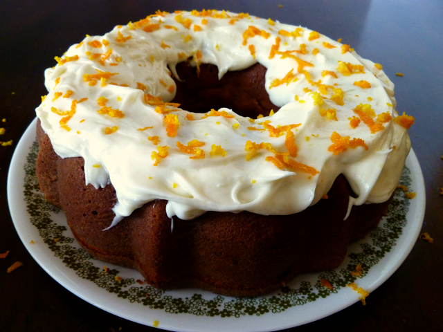 cranberry-orange bundt cake | The Baking Fairy